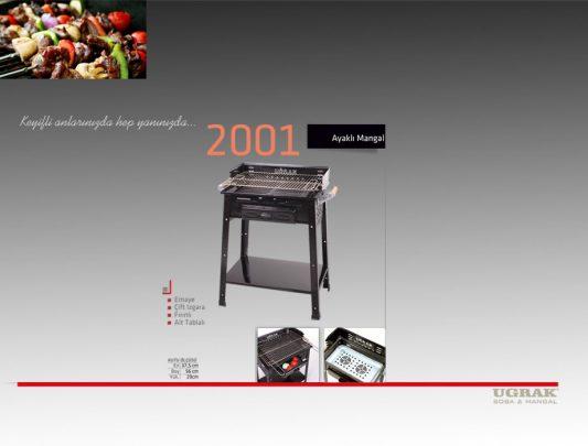 Ayaklı Mangal - Çift Izgara Fırınlı Emaye Ürün İçerik-2001