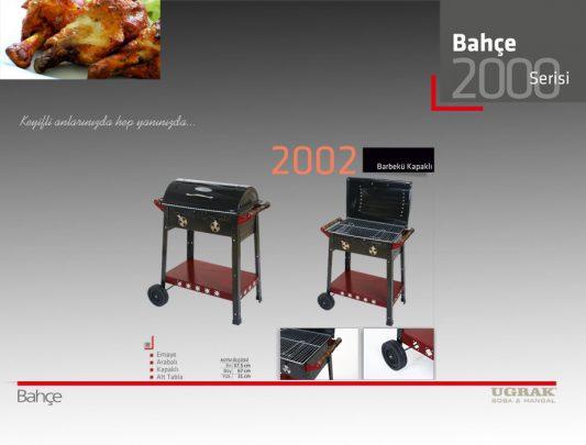 Kapaklı Barbekü Mangal -Arabalı Alt Tabla Emaye Ürün İçerik-2002
