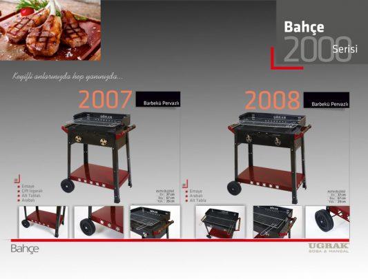Pervazlı Barbekü Mangal –Arabalı Alt Tabla Çift Izgara Emaye Ürün içerik-2007 - 2008
