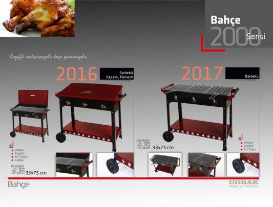 Barbekü Emaye Mangal -Arabalı Alt Tabla Mangallar Ürün İçerik-2016-2017