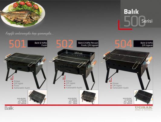 Balık ve Köfte Pervazlı Fırınlı Mangal -Katlanır Çift Izgara Ürün İçerik-502
