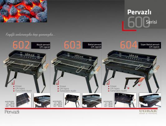 Battal Pervazlı Mangal -Çift Izgaralı Katlanır Emaye Ürün İçerik-603